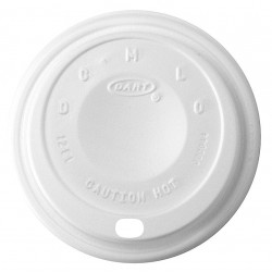 Dart Container - 12EL - 12 oz. Foam Sip Thru Hot Cup Lid, White; PK1000