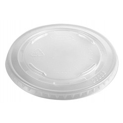 Dart Container - 610TS - 10 oz. Plastic Straw Slotted Cold Cup Lid, Clear; PK1000