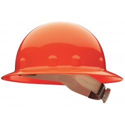 Fibre-Metal - E1RW03A000 - Full Brim Hard Hat, 8 pt. Ratchet Suspension, Orange, Hat Size: 6-1/2 to 8""