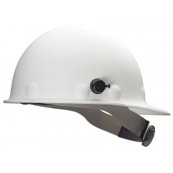 Fibre-Metal - P2HNQRW01A000 - Front Brim Hard Hat, 8 pt. Ratchet Suspension, White, Hat Size: 6-1/2 to 8""