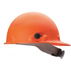 Fibre-Metal - P2HNQRW03A000 - Front Brim Hard Hat, 8 pt. Ratchet Suspension, Orange, Hat Size: 6-1/2 to 8""