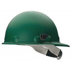 Fibre-Metal - P2HNQRW74A000 - Front Brim Hard Hat, 8 pt. Ratchet Suspension, Green, Hat Size: 6-1/2 to 8""