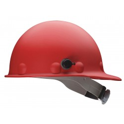Fibre-Metal - P2HNRW15A000 - Front Brim Hard Hat, 8 pt. Ratchet Suspension, Red, Hat Size: Universal