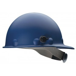 Fibre-Metal - P2HNRW71A000 - Front Brim Hard Hat, 8 pt. Ratchet Suspension, Blue, Hat Size: 6-5/8 to 7-1/2
