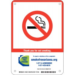 Brady - 104058 - No Smoking, No Header, Polyester, 10 x 7, Adhesive Surface, Not Retroreflective