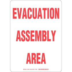 Brady - 103591 - Evacuation, Assembly or Shelter, No Header, Plastic, 14 x 10, With Mounting Holes