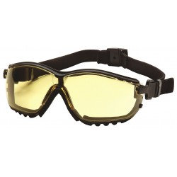 Pyramex - GB1830ST - Anti-Fog, Anti-Static, Scratch-Resistant Dust Goggle, Amber Lens Color