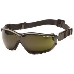 Pyramex - GB1850SFT - Anti-Fog, Anti-Static, Scratch-Resistant Dust Goggle, Green Lens Color