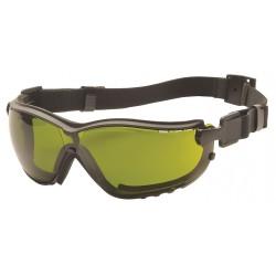 Pyramex - GB1860SFT - Anti-Fog, Anti-Static, Scratch-Resistant Dust Goggle, Green Lens Color