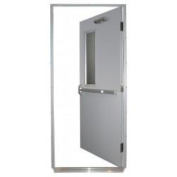 Securall Cabinets - HDQM18-36X84-1.5-RLH - Steel Door, Push Bar, RHR, 36 x 84 In.