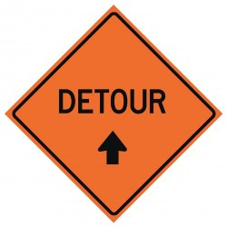 Usa-sign - 669-C/36-DGFO-D - Road Traffic Control, No Header, Vinyl, 36 x 36, Diamond