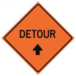 Usa-sign - 669-C/48-RVFO-D - Road Traffic Control, No Header, Vinyl, 48 x 48, Diamond