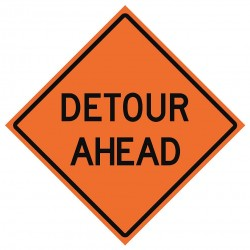 Usa-sign - 669-C/36-DGFO-DA - Road Traffic Control, No Header, Vinyl, 36 x 36, Diamond