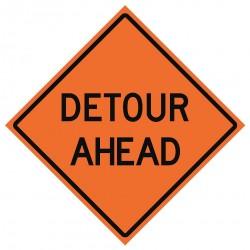 Usa-sign - 669-C/48-EMO-DA - Road Traffic Control, No Header, Mesh, 48 x 48
