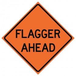 Usa-sign - 669-C/36-DGFO-FS - Road Traffic Control, No Header, Vinyl, 36 x 36, Diamond