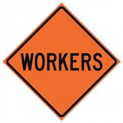 Usa-sign - 669-C/36-DGFO-MW - Person Working, No Header, Vinyl, 36 x 36, Diamond