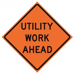 Usa-sign - 669-C/48-EMO-UW - Road Traffic Control, No Header, Mesh, 48 x 48