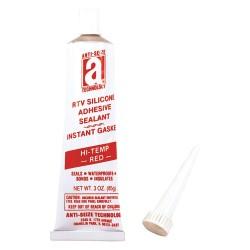 Anti-Seize - 27035 - Waterproof Red RTV Silicone Sealant, 3 oz.