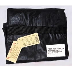 MedSource - MS-BOD200 - Chlorine Free Body Bag, Blk, Handles, PK10