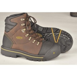 KEEN - 1007976 - 6H Men's Work Boots, Steel Toe Type, Leather Upper Material, Slate Black, Size 9-1/2D