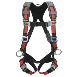 MSA - 10105943 - XL Construction Full Body Harness, 5000 lb. Tensile Strength, 400 lb. Weight Capacity, Red