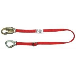 MSA - 10056762 - MSA 5' Nylon Web Tie-Back Restraint Lanyard With 36C Steel Snap Hook And FP5K Snap Hook, ( Each )
