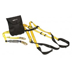 MSA - 10092193 - Yellow, XL Size Fall Protection Kit, 310 lb. Weight Capacity, Quick-Connect Leg Strap Buckles