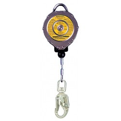 MSA - 10006470 - MSA 30' Dyna-Lock 3/16 Galvanized Steel Wire Rope Self-Retracting Lanyard With (1) 3/4 Snap Hook Anchorage Connection And 3/4 LS Swivel Snap Hook Harness Connection, ( Each )
