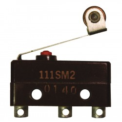 Honeywell - 111SM2 - 1A @ 120V Lever, Roller Miniature Snap Action Switch; Series SM