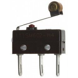 Honeywell - 111SM602-H4 - 5A @ 240V Lever, Roller Miniature Snap Action Switch; Series SM