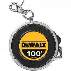 Dewalt - DWHT34201 - 100 ft. Steel SAE Long Tape Measure, Black/Chrome/Yellow