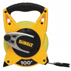 Dewalt - DWHT34028 - 100 ft. Fiberglass SAE Long Tape Measure, Black/Yellow