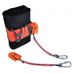 Proto - JPSTLPKT2 - Orange/Black Tethered Tool Pouch, Delrin/Ballistic Nylon, Fits Belts Up To (In.): 2