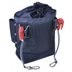 Proto - JPSBOLT - Orange/Black Tethered Tool Pouch, Delrin/Ballistic Nylon, Fits Belts Up To (In.): 2