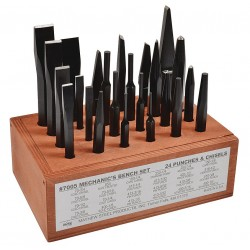 """Mayhew Tools - 61080 - 8"""" High-Grade Tool Alloy Punch and Chisel Set&#x3b; Number of Pieces: 24"""