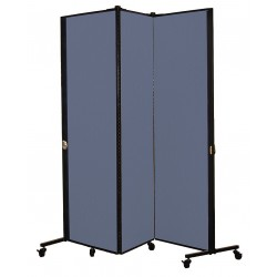 Screenflex - HKDL603-DB - 5 ft. 9 in. x 5 ft. 9 in., 3-Panel Portable Room Divider, Lake