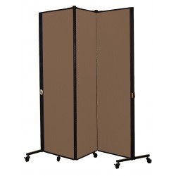 Screenflex - HKDL603-DO - 5 ft. 9 in. x 5 ft. 9 in., 3-Panel Portable Room Divider, Walnut