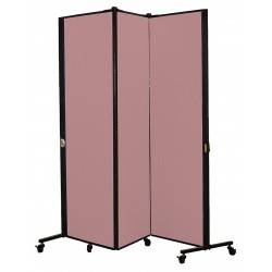 Screenflex - HKDL603-DM - 5 ft. 9 in. x 5 ft. 9 in., 3-Panel Portable Room Divider, Rose