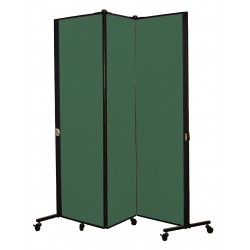 Screenflex - HKDL603-DN - 5 ft. 9 in. x 5 ft. 9 in., 3-Panel Portable Room Divider, Mallard