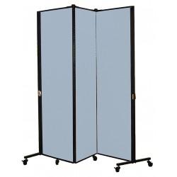 Screenflex - HKDL603-VB - 5 ft. 9 in. x 5 ft. 9 in., 3-Panel Portable Room Divider, Blue Tide