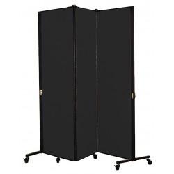 Screenflex - HKDL603-VX - 5 ft. 9 in. x 5 ft. 9 in., 3-Panel Portable Room Divider, Coal