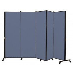Screenflex - HKDL605-DB - 9 ft. 5 in. x 5 ft. 9 in., 5-Panel Portable Room Divider, Lake