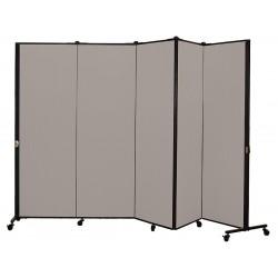 Screenflex - HKDL605-DG - 9 ft. 5 in. x 5 ft. 9 in., 5-Panel Portable Room Divider, Stone