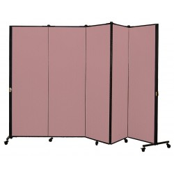 Screenflex - HKDL605-DM - 9 ft. 5 in. x 5 ft. 9 in., 5-Panel Portable Room Divider, Rose