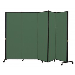Screenflex - HKDL605-DN - 9 ft. 5 in. x 5 ft. 9 in., 5-Panel Portable Room Divider, Mallard