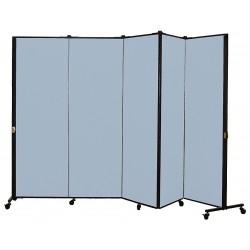 Screenflex - HKDL605-VB - 9 ft. 5 in. x 5 ft. 9 in., 5-Panel Portable Room Divider, Blue Tide