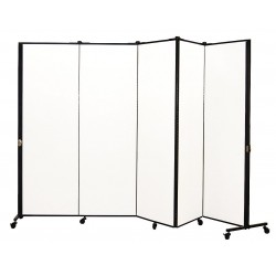 Screenflex - HKDL605-VT - 9 ft. 5 in. x 5 ft. 9 in., 5-Panel Portable Room Divider, Ice