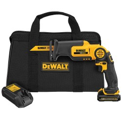 Dewalt - DCS310S1 - Cordless Reciprocating Saw Kit, 12.0 Voltage, Pivoting Shoe Design, Battery Included
