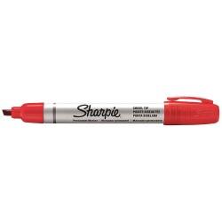 Sharpie - 1794225 - Permanent Marker, Chisel, Red, PK12