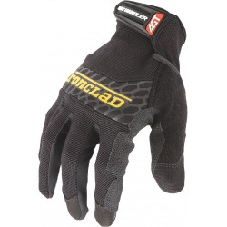 Ironclad - BHG2-04-L - Box Handling Mechanics Gloves, Silicone Printed Synthetic Leather Palm Material, Black, L, PR 1